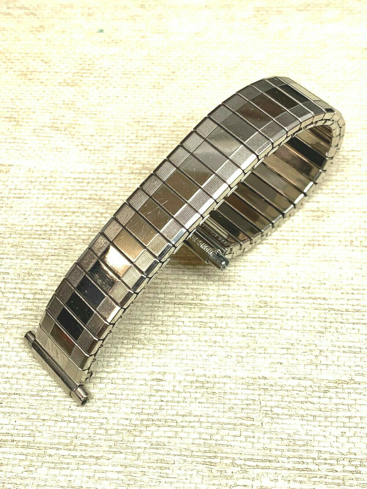 New Vintage expansion watch band stainless steel adjusting BOWLES Flex 15mm 20mm