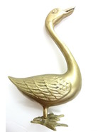"""Vintage Brass Goose Geese Duck 9"""" tall - $19.00"""