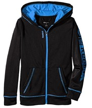 Reebok Little Boys' Warm Zip Up, QBH52154, Black, Size 5 , MSRP $42 - $21.77