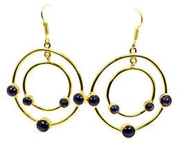 Red Gold Plated Glass fair Garnet jaipur Earring UK gift - $10.53