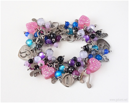 Reserved For Juicy 88 - Custom Charm Bracelet - Galaxy Theme - Stainless Steel - $65.00