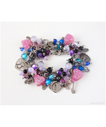 RESERVED for Juicy 88 - custom CHARM BRACELET - Galaxy theme - Stainless... - $65.00