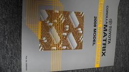 2008 Toyota COROLLA MATRIX Electrical Wiring Diagram Service Shop Repair Manual - $19.70