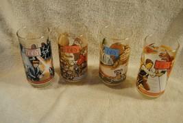 Lot of 4 Vintage Star Wars Burger King Glasses Return Of The Jedi 1983  - $49.99