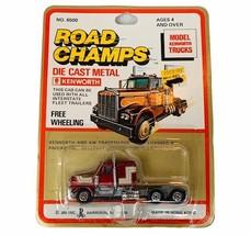 JRI Diecast Toy Car Truck Vtg MOC Road Champs Free Wheeling Cab Kenworth... - $44.50