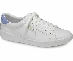 Keds WH58087 Women's Ace Leather White Pale Iris Shoes, 8.5 Med - $44.50