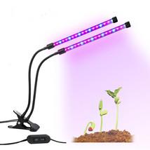 Gardening 18W Dual-lamp LED Grow Light Adjustable Flexible 360 Degree Go... - £39.53 GBP