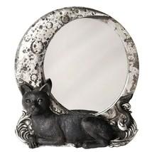 Alchemy Gothic Night Cat Moon Mirror Wall Or Desk Decor Goth Kitty Gift ... - $28.95