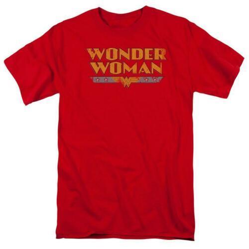 Wonder woman t shirt distressed dc comic book batman superhero cotton tee dco448