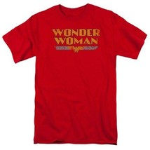 Wonder Woman T-shirt distressed DC comic book Batman superhero cotton tee DCO448 image 1