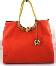 AUTHENTIC NEW NWT MICHAEL KORS $248 ISLA RING SHOULDER RED LIGHT TERRACO... - $79.99