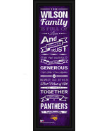 "Personalized Northern Iowa ""Panthers"" 24 x 8 Family Cheer Framed Print - $39.95"