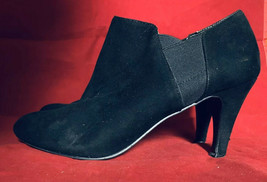 Nine West Womens Black Suede Stretch High Heel Ankle Boot Size 9.5M - €14,68 EUR