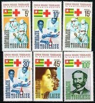TOGO 1966 RED CROSS  MNH MEDICINE, NOBEL PRIZE, HENRY DUNANT, NURSES, BLOOD - $2.57
