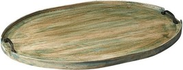 Serving Tray Rustic Distressed Aged Green Mango Hors - $199.00