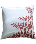 """Pillow Decor - White with Red Bold Fern 20"""" Throw Pillow - $34.95"""