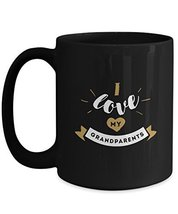 I Love My GrandParents - Black Mug (15oz, Black) - £12.83 GBP