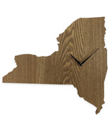 New York State Shaped Wood Grain Wall Clock Collection - $19.99