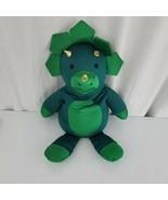Microbead Squishy Green Dinosaur Triceratops Stuffed Plush Neck Pillow T... - $59.39