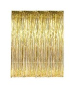 3ft x 8ft Metallic Gold Foil Tinsel Fringe Curtain Photo Backdrop Party ... - $5.44+