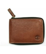 Timberland Men's Brown Leather Ziparound Wallet - New without box - $6.99