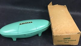 Vintage Singer Buttonholer In Green Oval Case With Original Box - $24.99