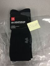 New Under Armour Mens HeatGear Crew Socks 4 Pair Sz: L 9-12.5 Black - $14.99