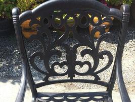 11 piece outdoor patio dining set Nassau cast aluminum 46 x 120 table Sunbrella image 7