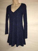 Express Dress Blue Multi Womens XS Long Sleeve NWT $59.9 image 2