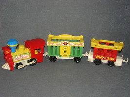 Fisher Price Little People 991: Circus Train 3 Cars Engine + Cage Car + Caboose - $15.00