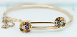 Art Nouveau (ca. 1900) 14K Rose Gold Bracelet (Ruby/Sapphires/Diamonds,6... - $635.00