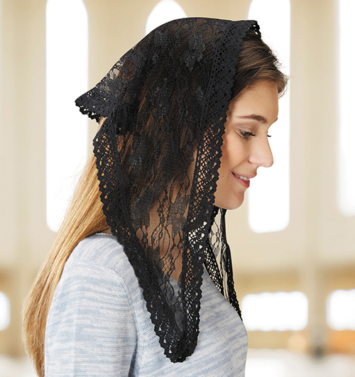 Chapel Veil - Triangle - Black - V-2