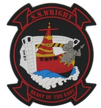 US Navy SS Wright T-AVB-3 Aviation Logistics Support Patch New!!! With V... - $14.84