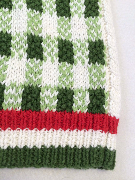 NWT Marisa Christina L Large Strawberry Patch Sweater Vest White Red Green image 6