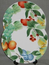 Set (2) Studio Nova AUTUMN JEWELS PATTERN Chop Plates or Platters MADE I... - $39.59