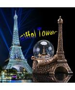 Paris France Water Snow Globe Decoration Ornament Glitter Eiffel Tower G... - $19.80