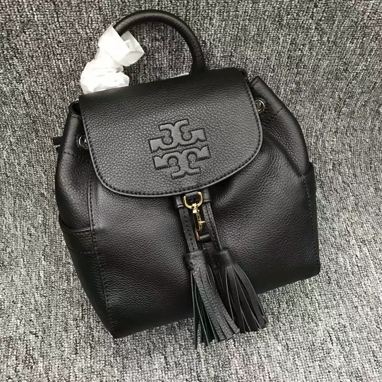 38b49e851805f Authentic Black Tory Burch Thea Mini Backpack and 50 similar items
