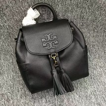 Authentic Black Tory Burch Thea Mini Backpack
