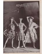 1982 Kenzo Takada 2-pg B&W Vintage Print Ad Peter Lindbergh 1980s - $16.49