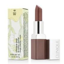 Clinique Pop Lip Colour + Primer - # 02 Bare Pop  - $40.00