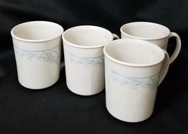 Replacement Coffee Mugs Set of 4 Corning Blue Lily Cups - $20.29