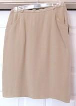 JONES NEW YORK PETITE Skirt w Pockets 1980'S 100% SILK Lined Women's 10 ... - $49.85