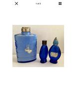3 Vintage Cobalt Blue Evening in Paris Perfume Bottles - $14.99