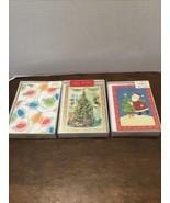 Seasons From Hallmark Christmas Cards Lot Of 3 Boxes Santa Tree Lights - $19.80