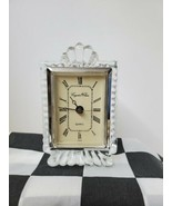 Vintage Crystal Clear Quartz Mantel Clock 24 % Lead 70's Era - $31.68