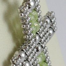 Charm Pendant Silver 925, cross Finely Worked Soft, Spheres, Peridot image 3