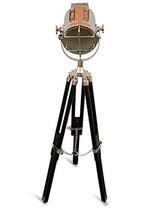 NauticalMart Marine Chrome Searchlight Wooden Tripod Lamp Light  - $129.00