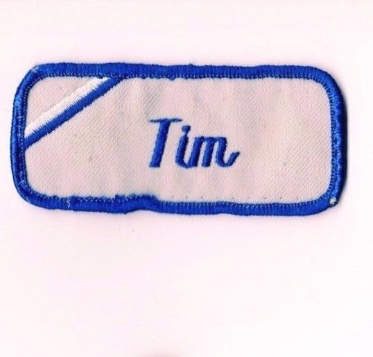 Tim name patch tag uniform embroidered mechanic shirt gas for Mechanic shirts custom name patch