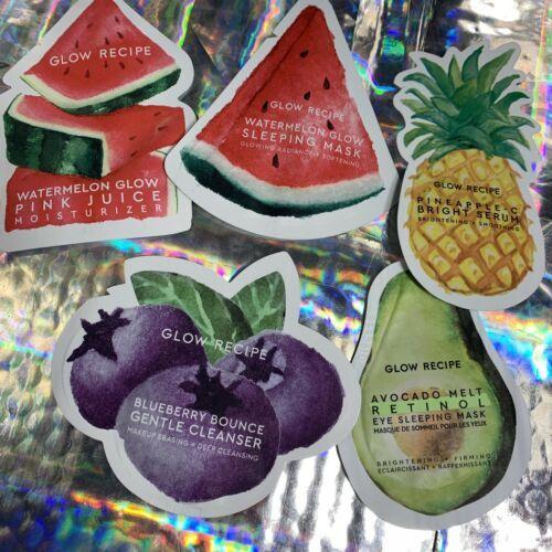 Glow Recipe Choose Your Samples Watermelon Sleeping Mask Pink Juice Pineapple