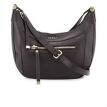 Furla Ginerva Small Leather Crossbody NWT, black - $143.99